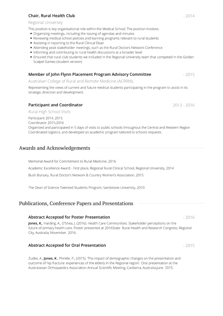 Medical Cv Format from advancemed.com.au