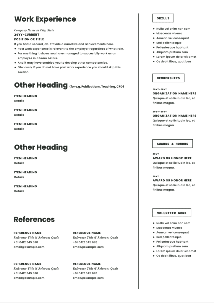Medical Student Resume Page 2