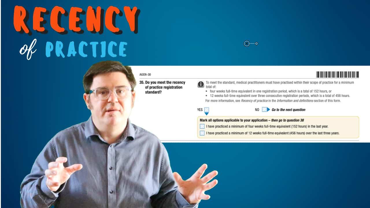 Recency of practice for doctors video